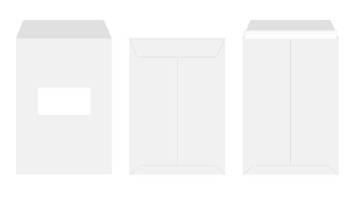 角2 白封筒 窓付