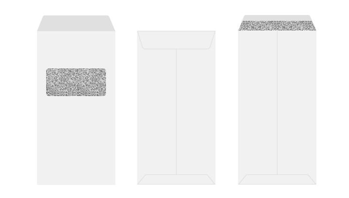 長3 プライバシー保護封筒 窓付