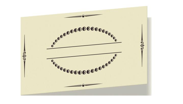 2ツ折カード 横長
