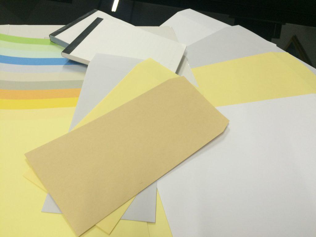封筒と領収書