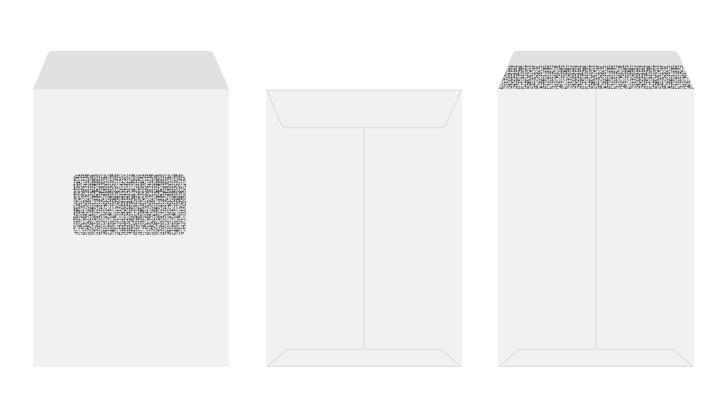 角2 プライバシー保護封筒 窓付