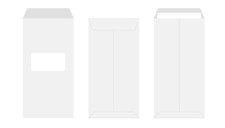 長3 白封筒 窓付